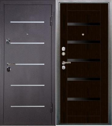 двери металлические черное стекло